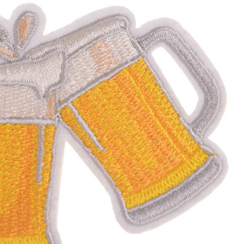 diy embroidery beer badge iron on patch for clothes stickers fabric Pip CYCA