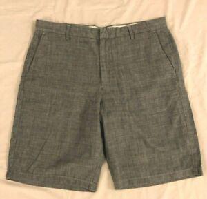 NWT-Men-039-s-J-Crew-Club-Gray-Stretch-Short-Size-36-Flat-Front-Slash-Pockets