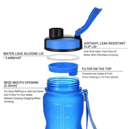 1000ML Wasserflasche Sportflasche Fitnessflasche Fahrradflasche  K