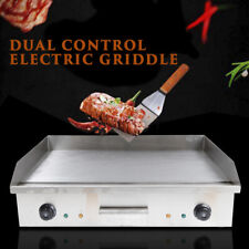 4400wcommercial Restaurant Grill Bbq Electric Countertop Griddle Stainless Steel
