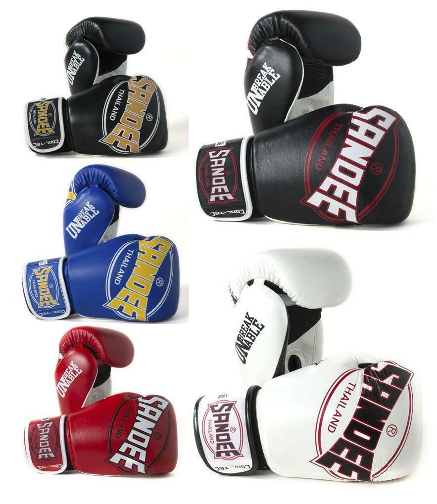 Sandee Cool-Tec Leder Boxhandschuhe - 5 Farben - Größen 10oz - 16oz