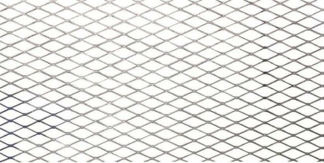 """/>3//4/""""-#14 Expanded Steel Expanded Metal Sheet Diamond Pattern .062/"""" x 24/"""" x 24/"""""""