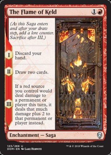 English x4 The Flame of Keld MTG Dominaria U M//NM