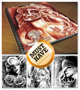 tattoo flash books steve soto designs 39 devil angels 39 brand new sealed rrp 55 ebay. Black Bedroom Furniture Sets. Home Design Ideas
