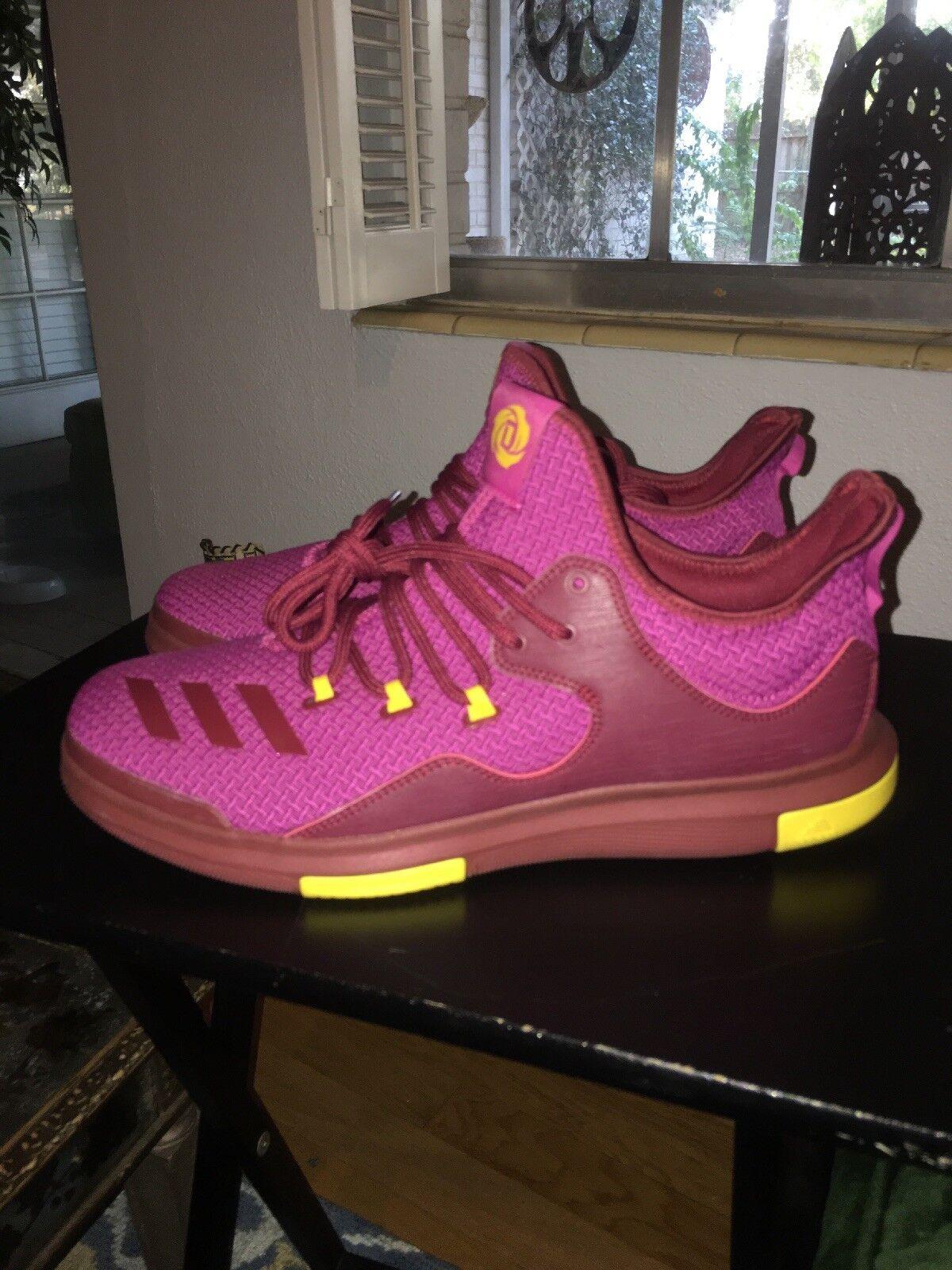 BRAND NEW adidas SM Derrick D pink 7 BY4204 NBA Basketball shoes Men's 14