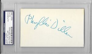 PHYLLIS-DILLER-Signed-INDEX-CARD-Actress-Comedian-Stand-Up-Comic-Family-Guy-PSA