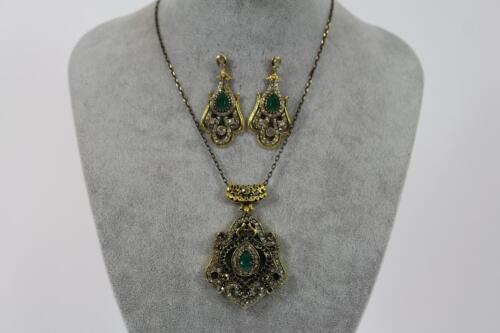 Esplendor schmuckset Collier /& aretes joyas de metal engaste estilo barroco