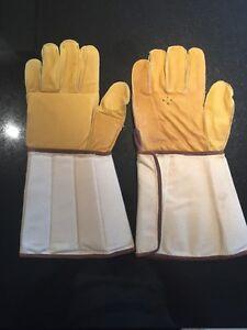 Gardening DIY Builders Work Heavy Duty DIY Leather Gloves Size 9