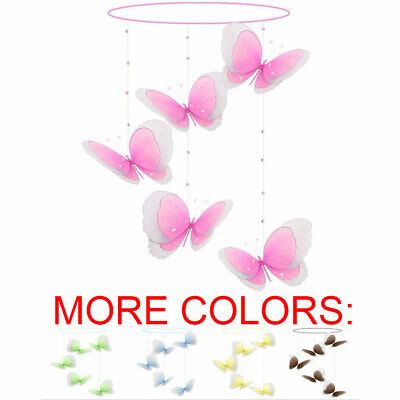 Butterfly Mobile Ceiling Hanging Butterflies Girl Nursery Room Decorations Swirl
