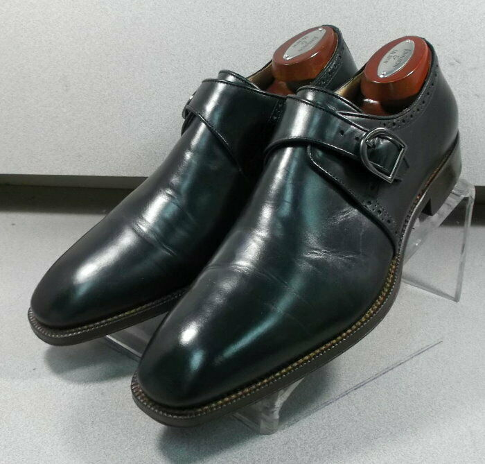 243075 PFi60 Men's Shoe Size 8 M Black Leather Made in Italy Johnston & Murphy