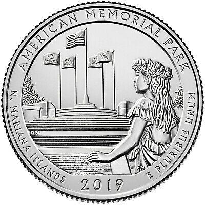 2019 NATIONAL MEMORIAL PARK N MARIANA ATB S mint Quarter AVAILABLE NOW