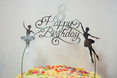 Swell Silver Ballerina Birthday Cake Decoration Topper Arch Ballet Personalised Birthday Cards Epsylily Jamesorg