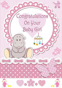 ITS A GIRL BABY GIRL BIRTH BANNER CONGRATULATIONS ITS A ...