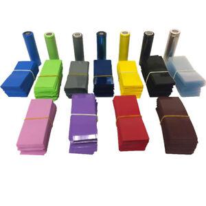 Pre-Cut-034-Pick-Your-Color-034-18650-PVC-Lithium-Battery-Heat-Shrink-Wraps