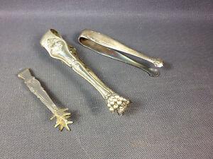 Lot-3-Antique-Pliers-in-Sugar-Vintage-Legs-Lion-Claws-Metal
