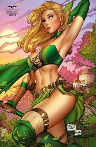 DEBALFO Fairy Tales Collectible 10 LTD 350 Zenescope NM ROBYN HOOD JUSTICE #1