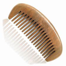 UK Seller! Handcraft Green Sandalwood Sandal Wood Half Moon Shape Comb Gift 12cm