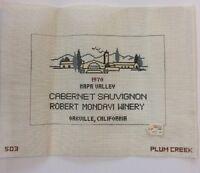 Needlepoint Canvas Only Mondavi Winery Wine Cabernet Napa Valley Plum Creek 503