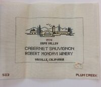 Needlepoint Canvas Only Mondavi Winery Wine Cabernet Napa Valley Plum Creek 503