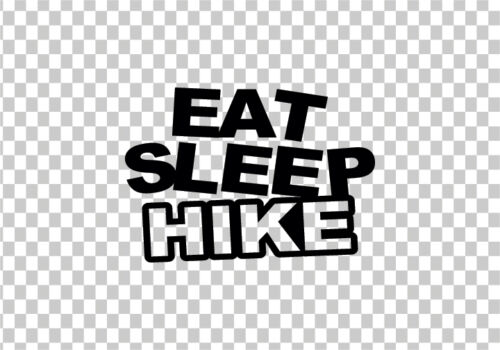EAT SLEEP HIKE VINYL STICKER