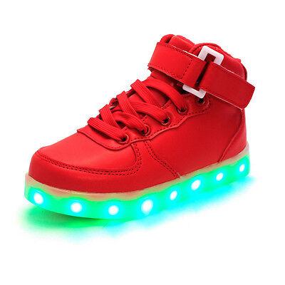 Leuchtende LED Licht Kinder Turnschuhe Sneaker Sportschuhe Jungen Mädchen Schuhe