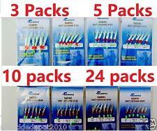 Sabiki Bait Rigs 6 Hooks Saltwater Fishing Lure Size:1/0,1,2,4,6,8,10,12,14- 417