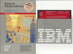 """1984 DLS IBM TRIVIA 101 The Introductory Course Booklet + 5 1/4"""" Disk"""