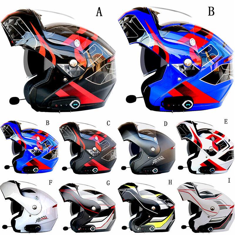 Motorcycle Anti-fog Dual  Visor Helmet with blueetooth Headset Speaker Full Face  70% off cheap