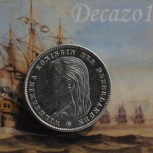 Netherlands-25-Cent-1897-Wilhelmina-KM-115-Top-quality-coin