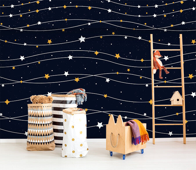 3D Stars Sky Night 75 Wallpaper Mural Paper Wall Print Murals UK Jenny