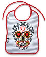 Six Bunnies Sugar Skull Bib Tattoo Punk Rockabilly Baby Shower Alternative Heart