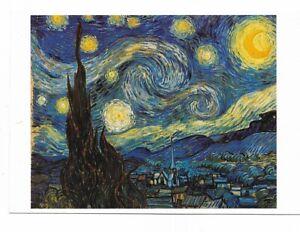 AK-Kuenstlerkarte-von-Vincent-van-Gogh-Die-Sternennacht-New-York-Museum-Moder