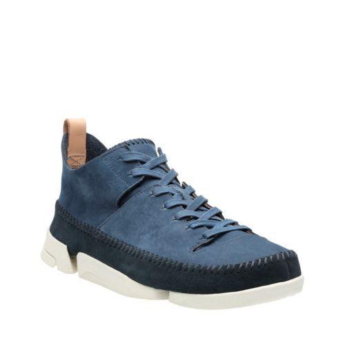 Scarpe casual da uomo  Clarks Originals Trigenic Flex Night Blue Suede Vibram Sole Shoes  26123009
