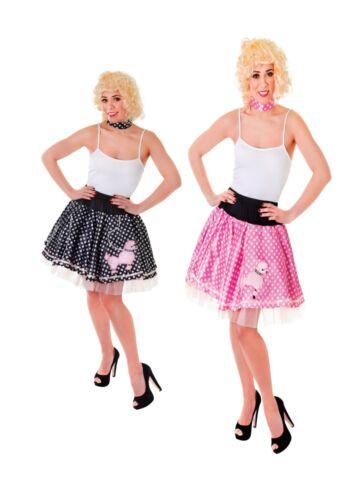 Anni 1950 anni/'50 barboncino Gonna /& Sciarpa al collo Costume Vestito Taglia 10-14