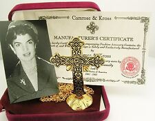 "Jackie Kennedy Antique Cross with Stand ""Comes with Pouch & Camrose & Kross Box"""