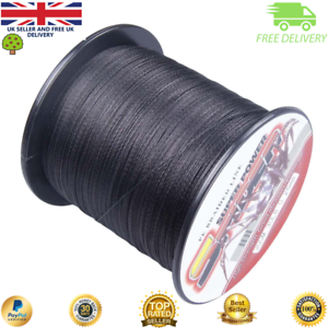 Super-Dyneema-100-2000M-15-90LB-Fishing-Braid-Carp-Line-Army-Black-Spod-Marker