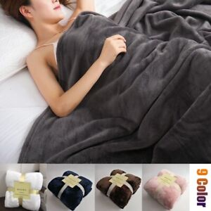Solid-Color-Blanket-Bedding-Throw-Wrap-Soft-Sofa-Flannel-Blanket-Queen-King-Size