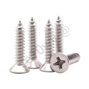 M5 M6 M8 Phillips Pan Head 304 Stainless Steel Self Tapping Screws Tappers