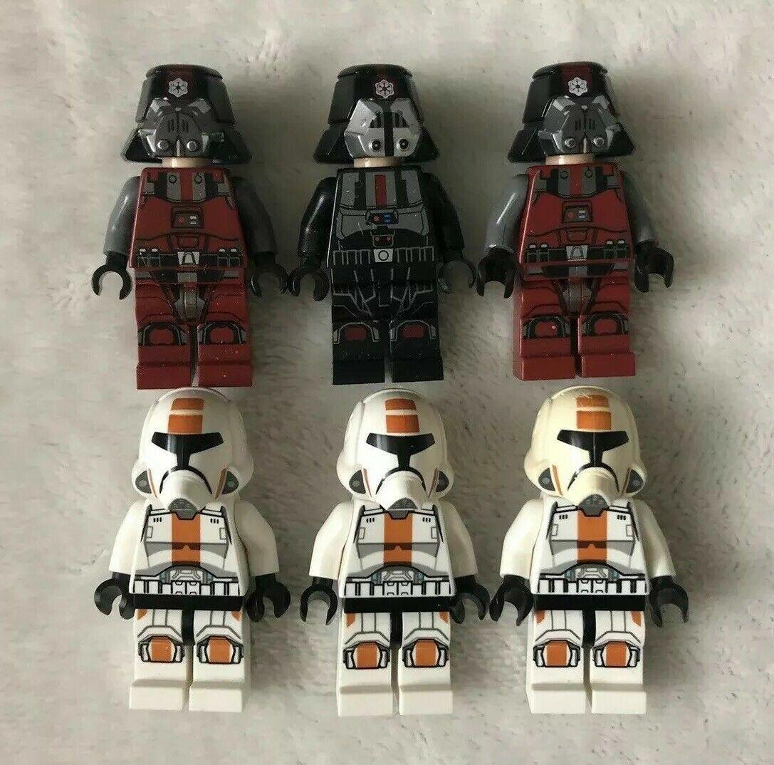 LEGO Star Star Star Wars Sith Trooper Republic Trooper Minifigures Lot Of 6 0e9b00