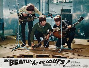 "The Beatles Help French Lobby Card Replica 14 x 11"" Photo Print"