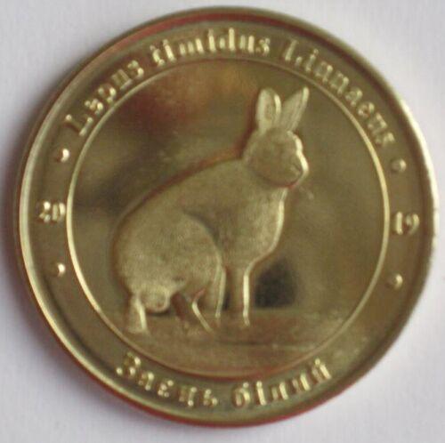 Ukriane 2019 1 zlotnik Mountain hare Lepus timidus Ukrainian red book