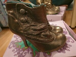 Irregular-Choice-Bronze-Ankle-Boots-Size-40