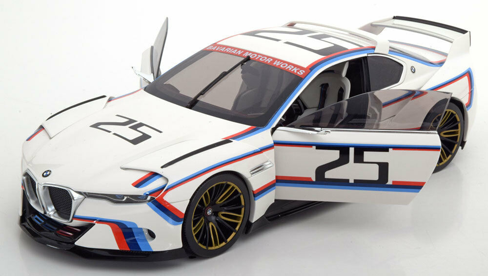 BMW 3.0 CSL HOMMAGE R PEBBLE BEACH 2015 NOREV 80432454782 1 18 WEISS WHITE