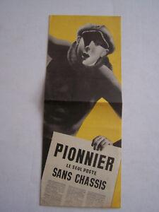 Publicite , Le Poste Radio Sans Chassis , Pionnier Un 5 Lampes . 4 Pages . Cpoapcrv-08005135-381180281