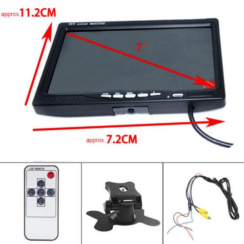 """7/"""" TFT LCD Monitor+Night Vision Car Rear View System Night Vision Backup Camera"""