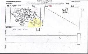 Details about Maya and Miguel OPENING Original Production Animation  Storyboard PBS 36