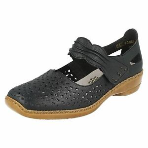 Jane cuir lacets 41399 bleu en Chaussures ᄄᄂ Mary Rieker k80wOnPX