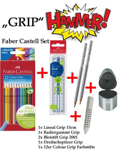 """Radier Lineal 12er Fabstifte Spitzer Bleistifte Faber Castell Set /""""GRIP/"""""""
