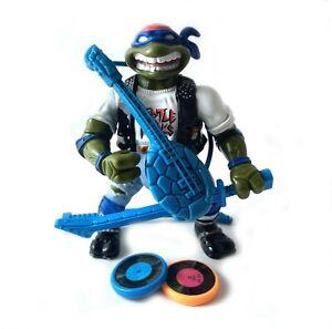 Classic-Rocker-Leo-Vintage-TMNT-Ninja-Turtles-Figure-100-Complete-1991-Leonardo