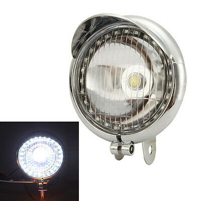 "7/"" LED Black Headlight Angel Eye For Yamaha V-Star XVS 650 1100 Classic Custom"